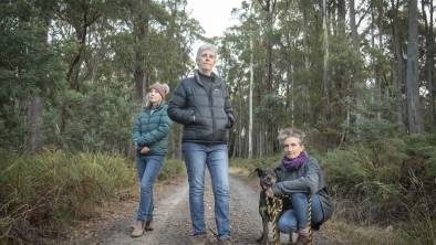 CONSERVATION: Community members Eerin Hardman, Alison Marshall and Ann Hamilton are against plans to build a subdivision on Ecclestone Road. Picture: Craig George