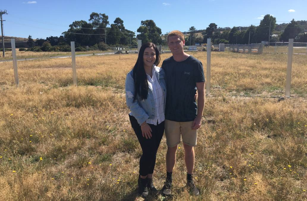 OWNERS: Brittany Goss and Bradley Lockett are able to a own their own home due to HomeBuilder scheme. Picture: Adam Daunt