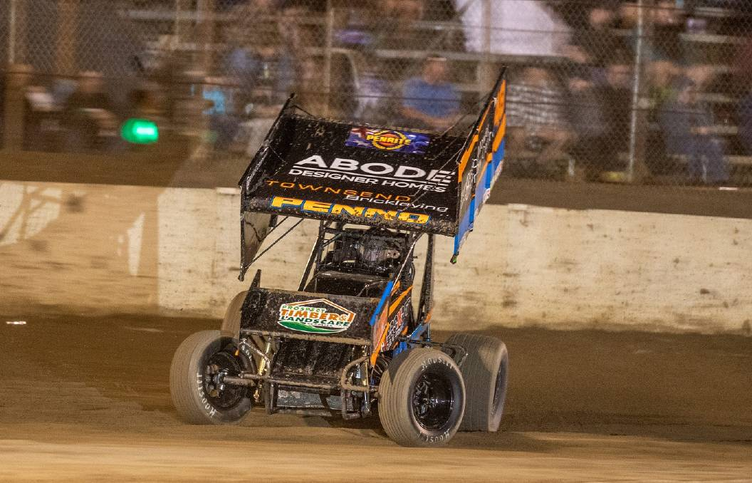 CHALLENGE: Nick Penno in his sprintcar will face stiff competition this weekend. Picture: Angryman Photography