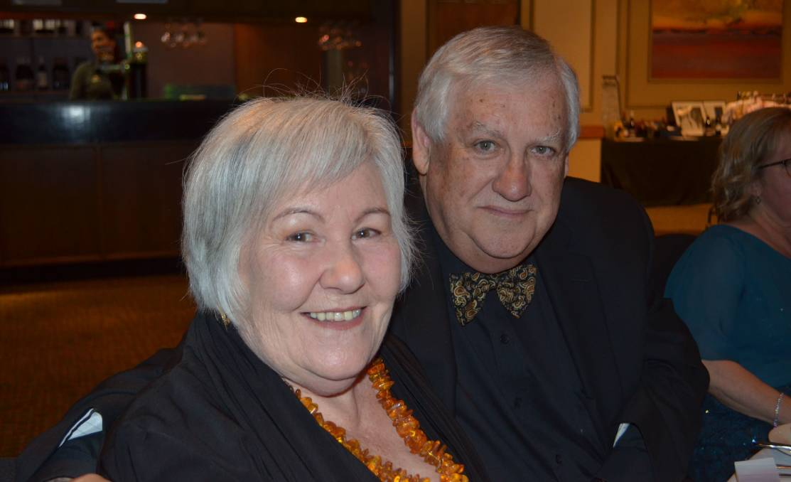 FAREWELL: Jan Kenna with her late husband Robert Kenna, whose funeral was held on Tuesday morning.