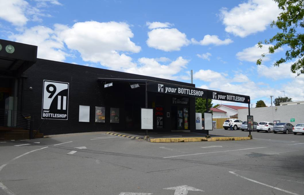 The 9/11 bottle shop at the Newstead Hotel was among the businesses targeted in a burglary spree in Launceston overnight. Picture: Adam Holmes