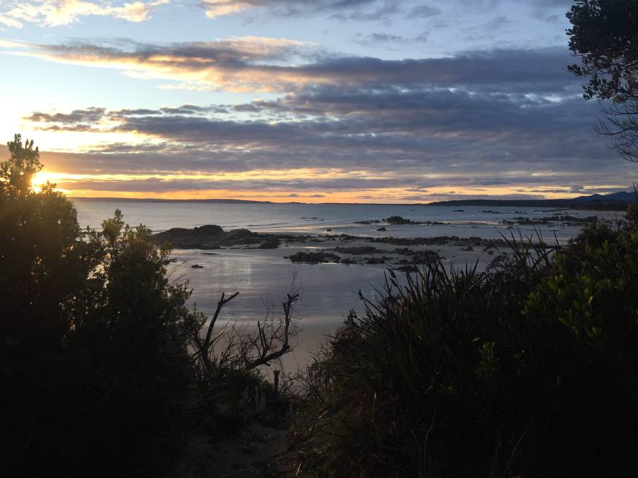 The sun rises at Tomahawk in the North East, one of the areas that could be recommended for an Aboriginal place name. Pictures: supplied