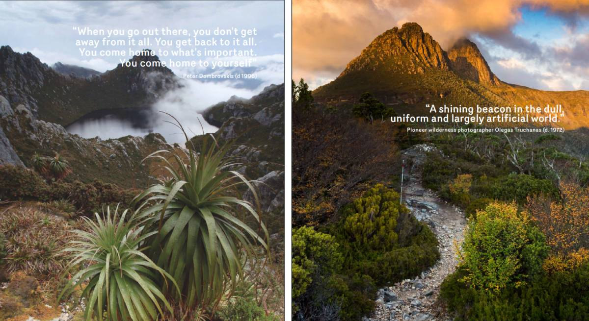 The quotes featured in the state government's Towards a Tourism Master Plan which has drawn the ire of the families of Olegas Truchanas and Peter Dombrovskis.