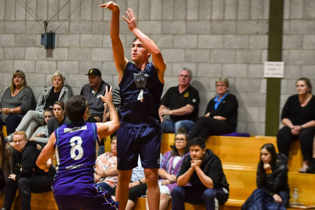 SNIPER: Sejr Deans drained four of five three point attempts against ACT. Picture: Simon Sturzaker