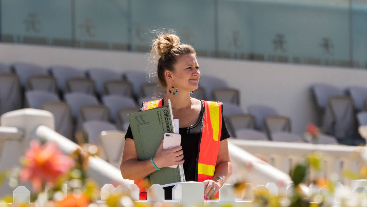 GETTING READY: Launceston Turf Club chief executive officer Natalie Waters said the club is excited to be able to have the cup go ahead. Picture: Phillip Biggs