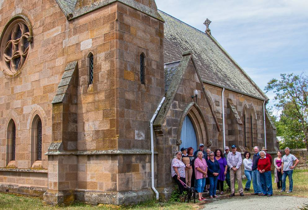 SAVING GRACE: Some of the 25 members of the Friends of St John's group hoping to save the heritage listed building.