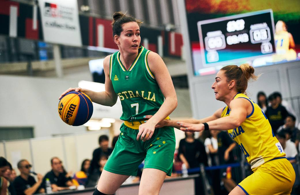 FREE FROLING: Keely Froling in action for Australia at the 3x3 world qualifiers in Tokyo. Picture: Supplied