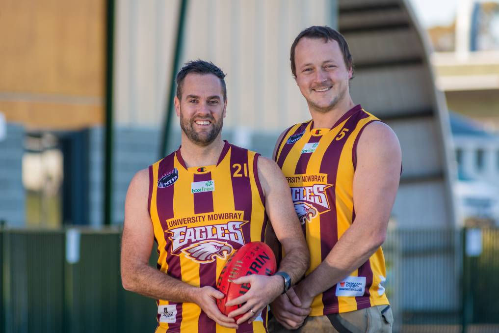 MILESTONE MEN: Uni-Mowbray pair Daniel Pickersgill and Ben Arnold will play their 200th and 100th club games respectively this weekend. Picture: Phillip Biggs