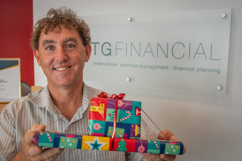 Giving gifts: Tony Gray of TG Financial organised one of the largest donations in the Empty Stocking Appeal's history. Picture: Paul Scambler