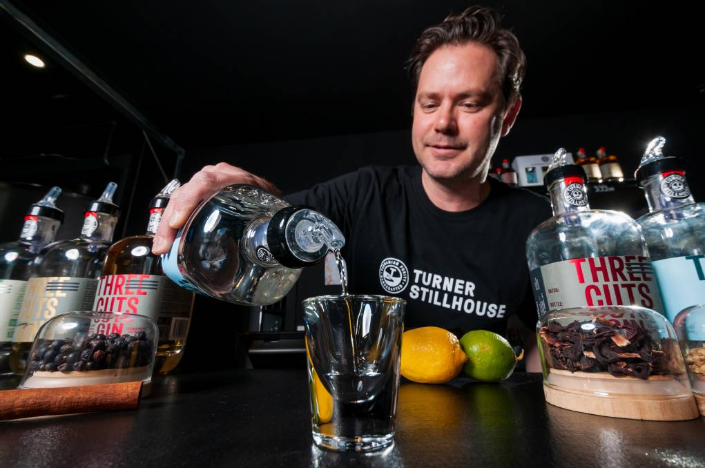 Gin-uine excitement: Turner Stillhouse founder Justin Turner getting ready for the first event of 2021. Picture: Phillip Biggs