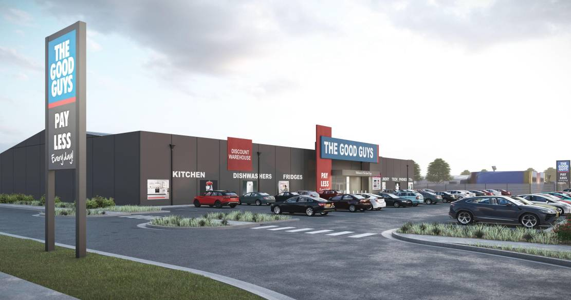 An artist's impression of The Good Guys store that could be built at Invermay.