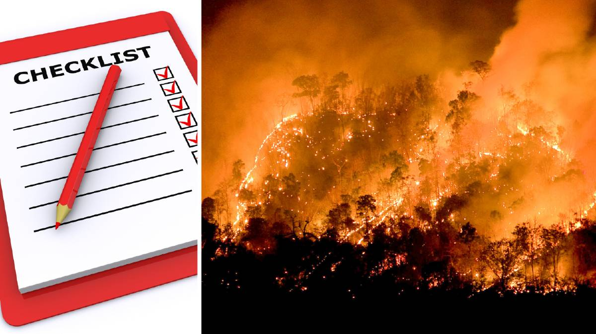What to pack when evacuating for bushfires