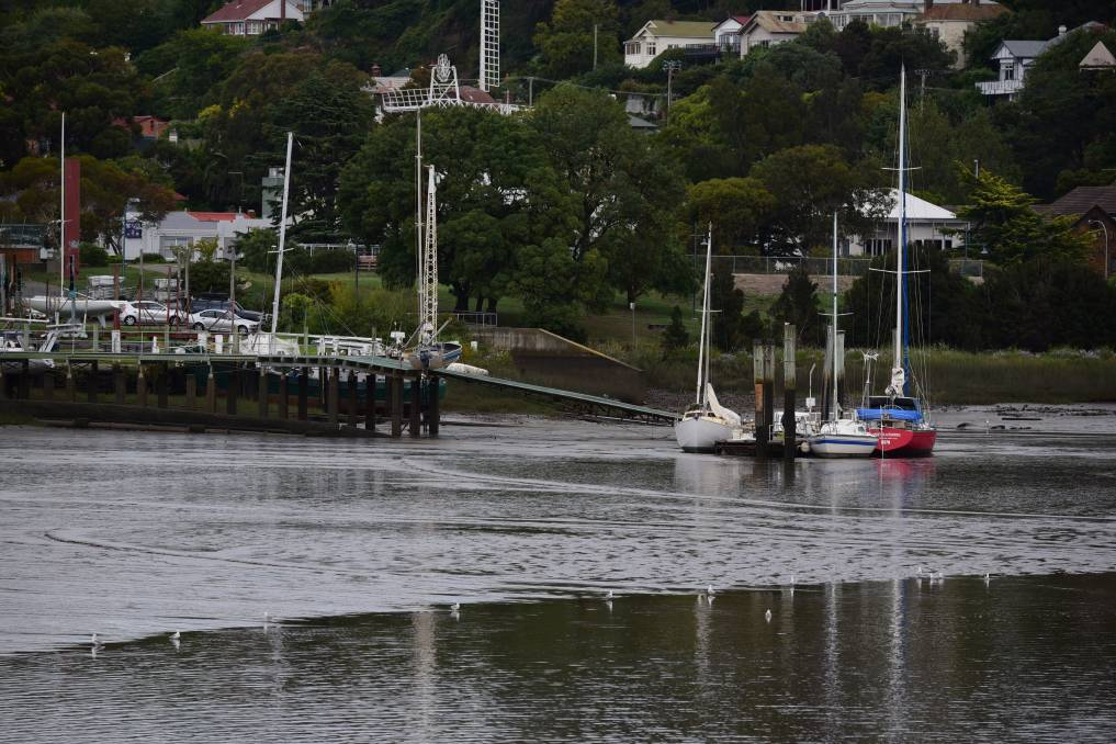 NO FLOW: Sediment in the Tamar River has been a factor of the estuary's poor health. Picture: File