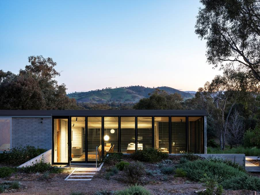 The design of the East Street home in Albury, frames and captures the stunning views south to Mt Huon.