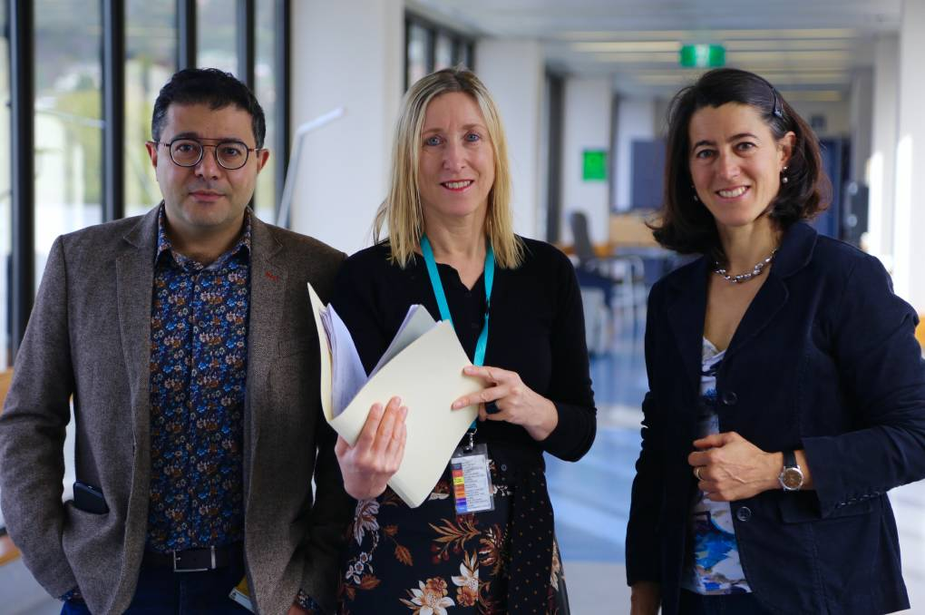 LGH ASCOT researchers Dr Ali Trad, Professor Katie Flanagan and Dr Sabrina Sonda.