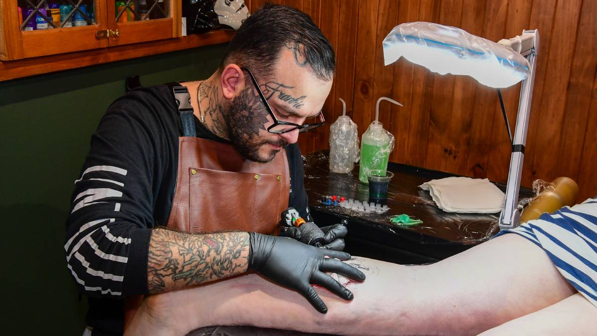 PASSION: Launceston tattooist Paul Galea, of The Tattoo Society, has welcomed changes to rules around plasma donations. To make an appointment to donate plasma or blood visit lifeblood.com.au or call 13 14 95. Picture: Neil Richardson