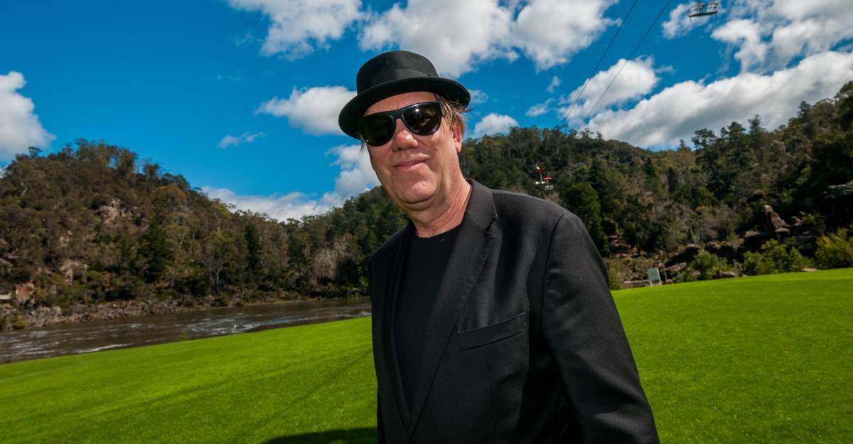Mona Foma curator Brian Ritchie at the Gorge on Saturday. Picture: Phillip Biggs
