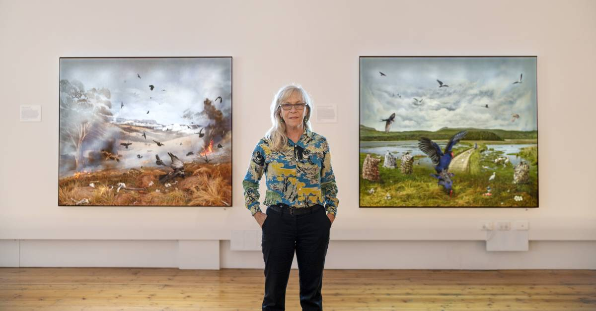Anne Zahalka's with in her Lost Landscapes exhibition. Picture: Rob Burnett