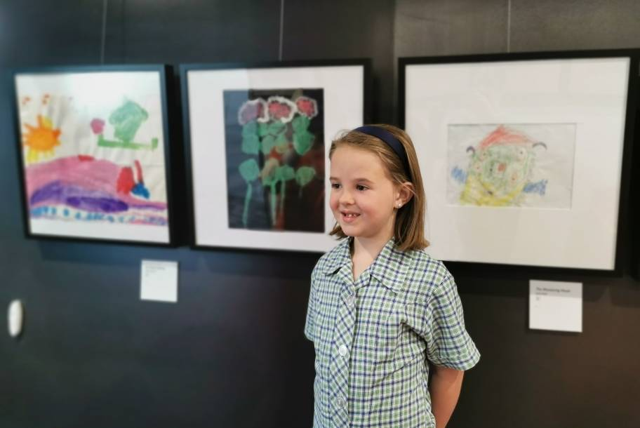 Eden Brewer, age 4 when she did the art, now 6, attends Norwood Primary School. Picture: Supplied.