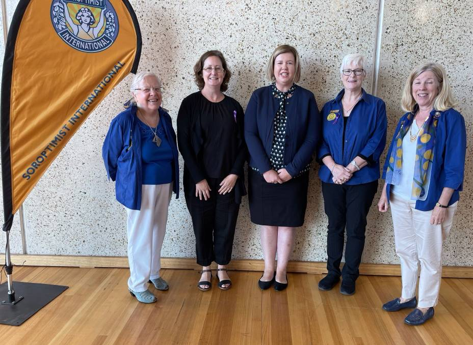 President Dr Jane Zimmerman AM, professor Tracey Dickson, Bass MHR Bridget Archer, past president Nora Wood and region president Carol Thomas. Picture: Supplied