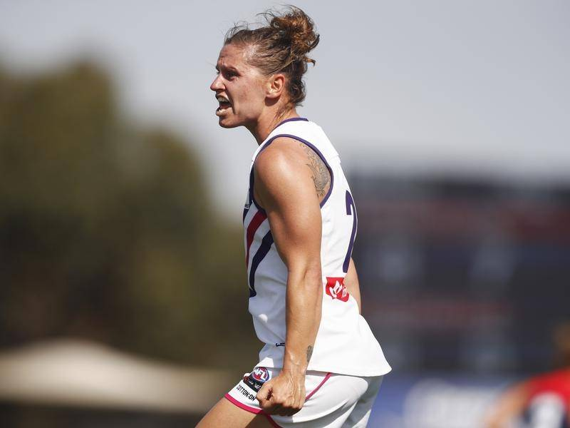 Fremantle's Kiara Bowers collected her third best-afield medal from as many AFLW western derbies.