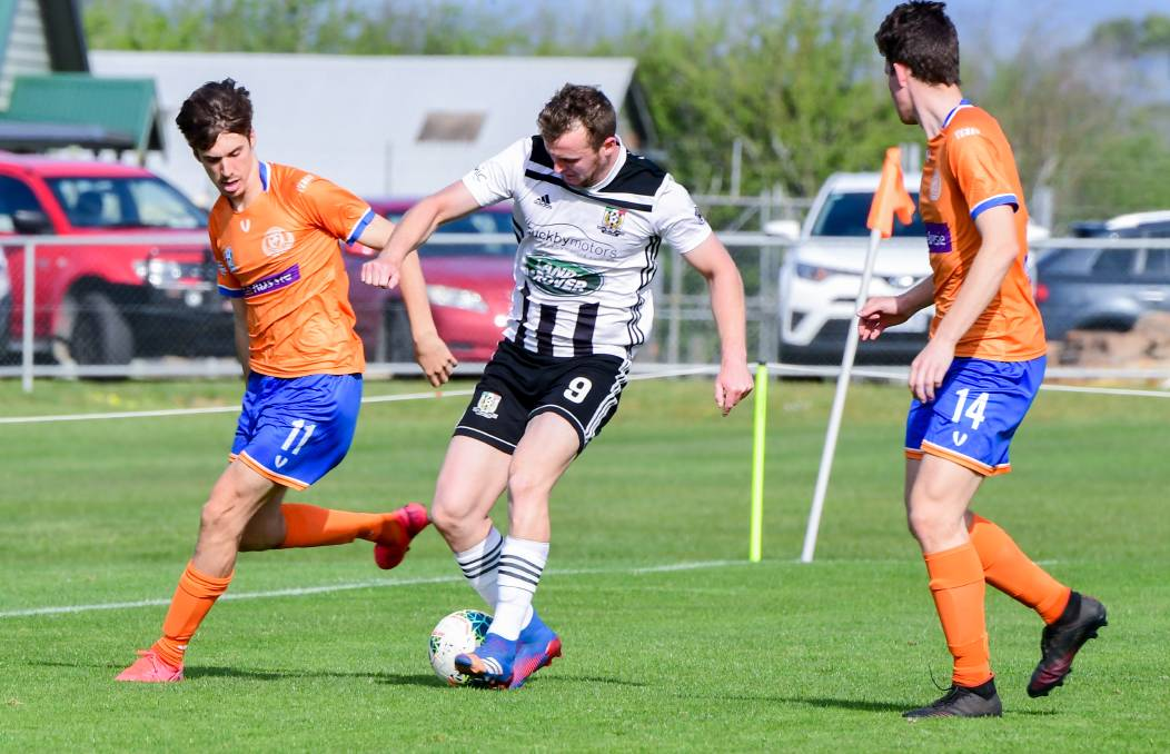 WE WERE ROBBED: Launceston City import Rob Gerrard dominated the midfield against Riverside on Saturday.