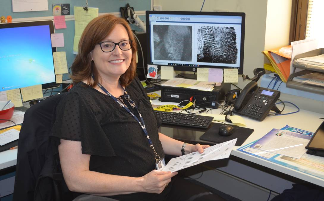 MATCH: Tasmania Police fingerprint expert Tracey Tobin became the state's first female expert in 2007. Picture: Emily Jarvie