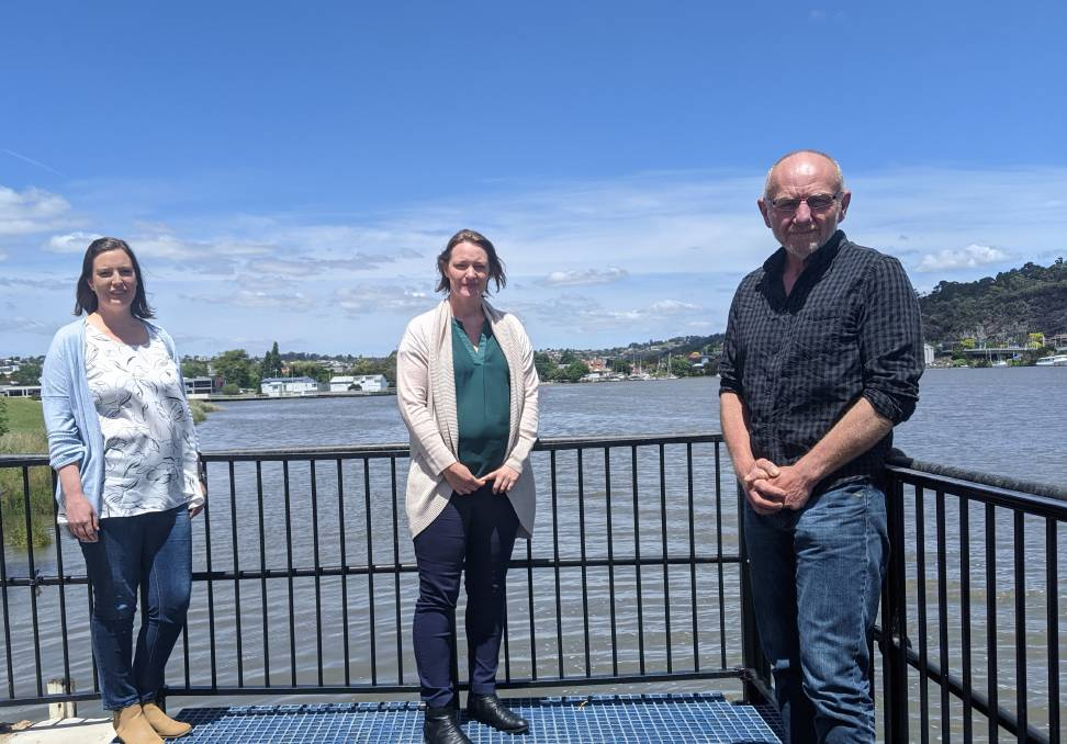 BACKED BY SCIENCE: Tamar Estuary and Esk Rivers Program manager Jo Fearman, scientific and technical committee chairwoman Rebecca Kelly and water and strategic projects manager Andrew Baldwin. Picture: Caitlin Jarvis