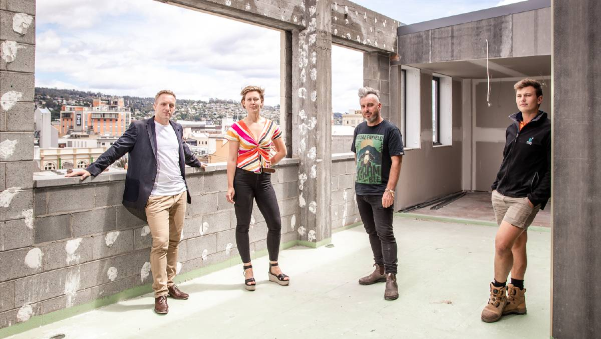 CHANGE COMING: Directors Toby Wilkin, Tara Howell, Sam Haberle and Marcel Anstie. Picture: S. Group